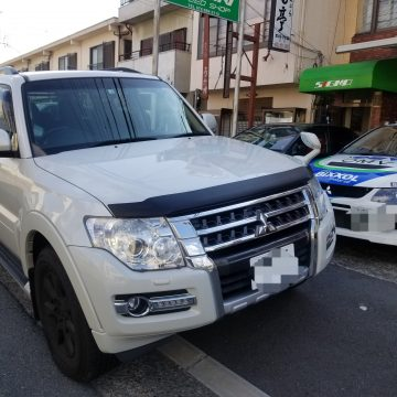 海外市販向け カーボンルックフードデフレクター MITSUBISHI PAJERO 三菱パジェロ  V80/90